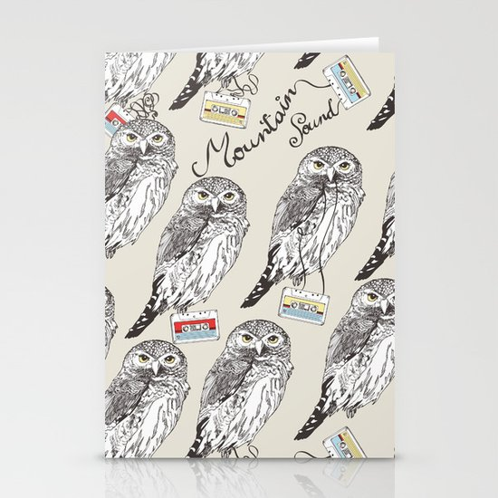 UP ALL NIGHT Stationery Card