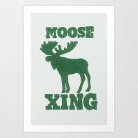 Moose Xing Art Print
