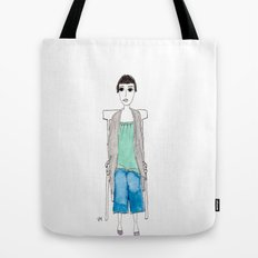 girl in another chair Tote Bag