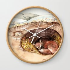 Fox's Den Wall Clock
