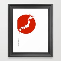 Save Japan! Framed Art Print