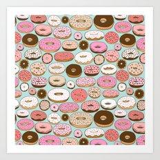 Donut Wonderland Art Print