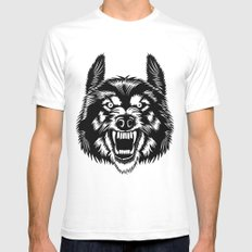 Big Bad Wolf II Mens Fitted Tee White SMALL
