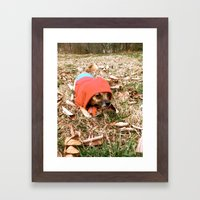 Tough Puppy Framed Art Print