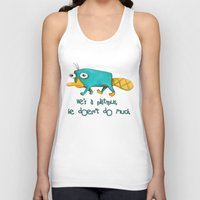 Perry - Pet mode on Unisex Tank Top