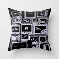 TV Addict Throw Pillow