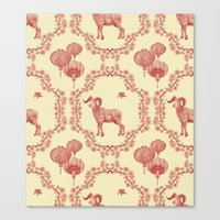 Year Of The Ram Canvas Print