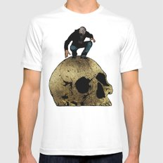 Leroy And The Giant's Giant Skull Mens Fitted Tee SMALL White