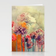 Stationery Cards featuring Allium by Takmaj