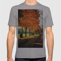 Urban Fall Mens Fitted Tee Athletic Grey SMALL