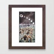 Moon Salutation Framed Art Print