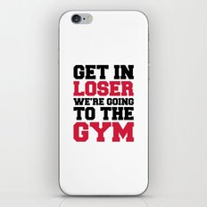Going To The Gym Quote iPhone & iPod Skin