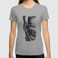 Alien Face. Womens Fitted Tee Athletic Grey SMALL