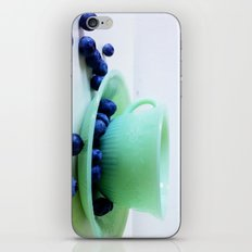 Retro Breakfast - Jadite and Blueberries iPhone & iPod Skin