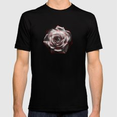SACRED ROSE Mens Fitted Tee SMALL Black