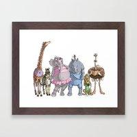 Animal Mural Crew Framed Art Print