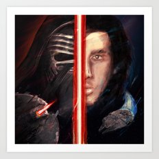 THE DARK & THE LIGHT Art Print