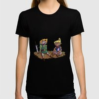 Buddies Womens Fitted Tee Black SMALL