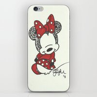 Minnie Mouse Zen Tangle iPhone & iPod Skin