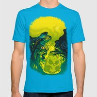 MAD SCIENCE! Mens Fitted Tee Teal SMALL