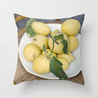 when life hands you lemons::cinque terre, italy Throw Pillow