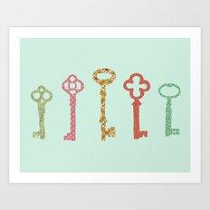 Skeleton Keys Art Print