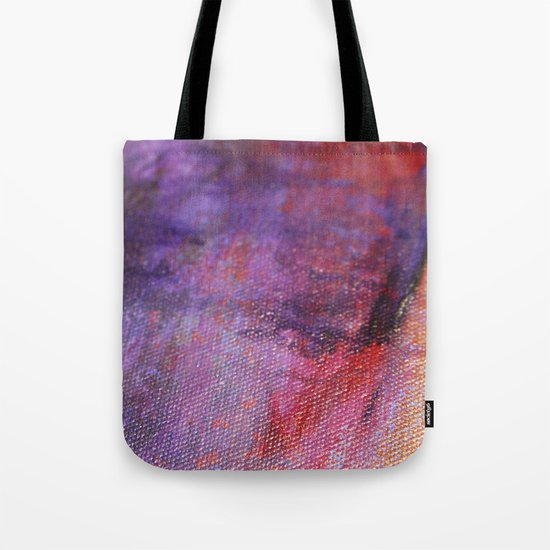 Red Vastness Tote Bag