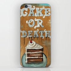 Cake Or Death? iPhone & iPod Skin