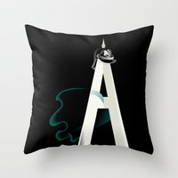 Tyranny Of The Alphabet Throw Pillow