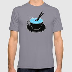 Coffee Diving Mens Fitted Tee Slate SMALL