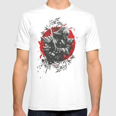 Black Samurai SMALL White Mens Fitted Tee