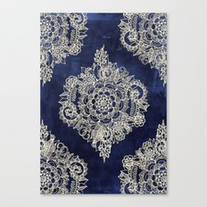 Cream Floral Moroccan Pa… Canvas Print