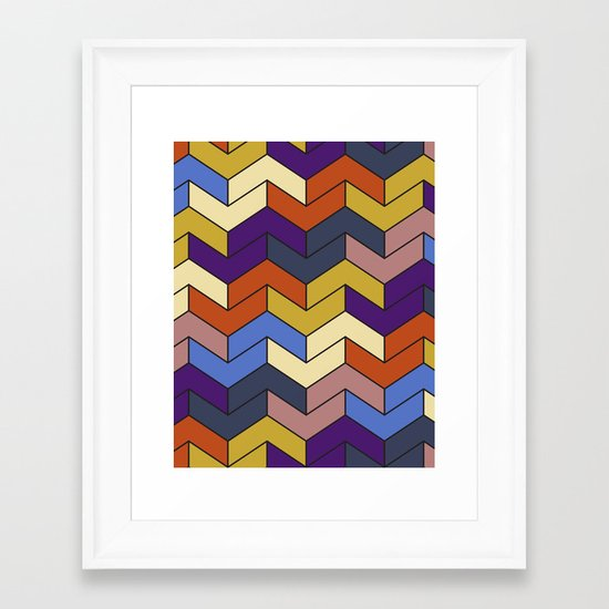 Geometric Chevrons Framed Art Print