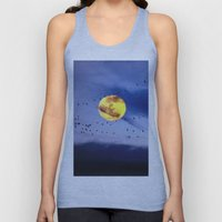 On a left along the moon and further to the east. Unisex Tank Top