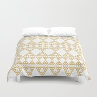 Golden Lace Duvet Cover