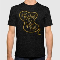 Your Father is a Horse Thief Mens Fitted Tee Tri-Black SMALL