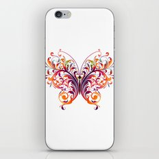 Multicolor Butterfly iPhone & iPod Skin