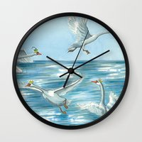 Children Of Lir Wall Clock