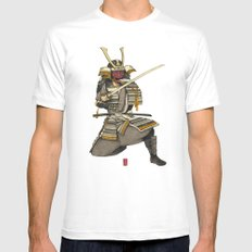 Samurai 1 Version A SMALL White Mens Fitted Tee