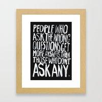 ANSWERS Framed Art Print