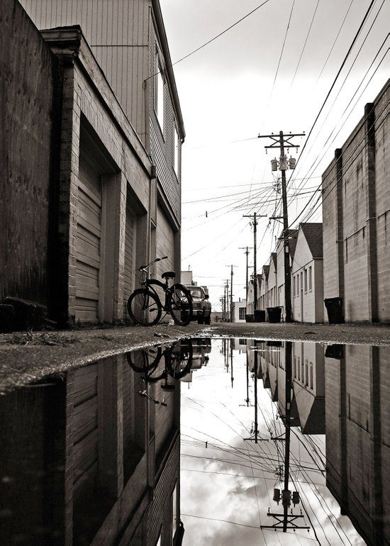 South Tacoma alley Art Print
