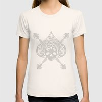 Pirate Skull Womens Fitted Tee Natural SMALL