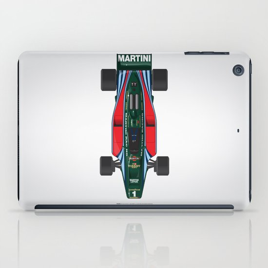 Outline Series N.º2, Mario Andretti, Lotus 80-Ford 1980 iPad Case