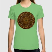 Caution Zone Mandala Womens Fitted Tee Grass SMALL