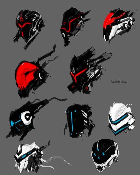 Mech face full armor concept Canvas Print