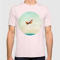 Fly Away Mens Fitted Tee Light Pink SMALL