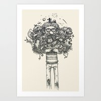 My beard... an amazing thing Art Print