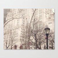 Madison Square Park in winter Canvas Print