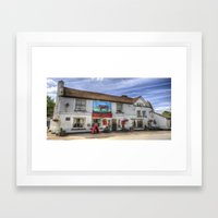 The Bull Pub Theydon Bois Panorama Framed Art Print