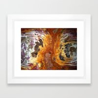 Red Cyclones Framed Art Print
